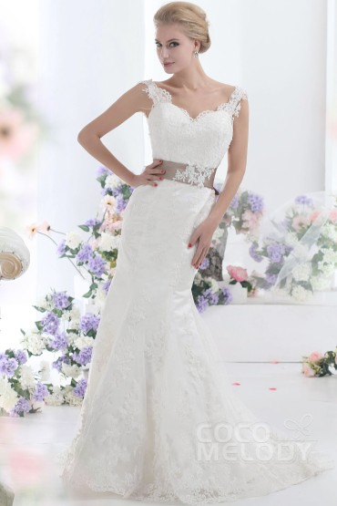 trumpet-mermaid-ivory-court-train-v-neck-lace-wedding-dress-b12178-a_1_1