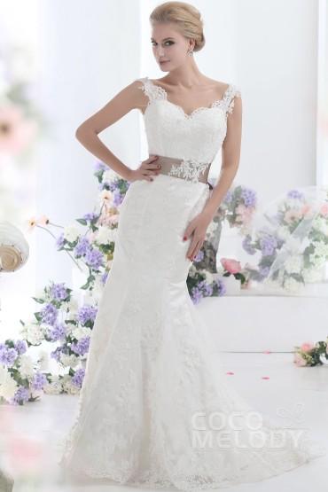 trumpet-mermaid-ivory-court-train-v-neck-lace-wedding-dress-b12178-a_1_1