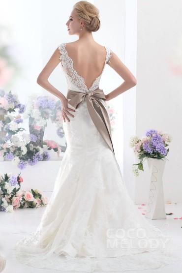 trumpet-mermaid-ivory-court-train-v-neck-lace-wedding-dress-b12178-c_1_1
